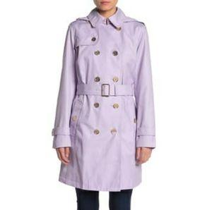 Michael Kors light quartz purple trench coat